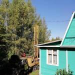 УрБ 2а2 на базе 131 ЗИЛ в процессе бурения скважины, деревня Якушево