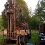 Процесс бурения скважины на песок в деревне Пешково, от специалистов БК-АкваЛайф