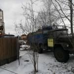 Зимнее бурение скважины на воду в поселке Образцово,работа компании АкваЛайф